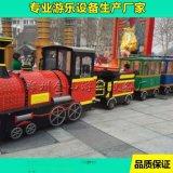 景區無軌觀光小火車   新型遊樂場設備觀光小火車多少錢