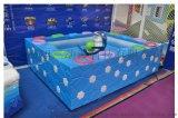 翔三兒童樂園遊樂設備新品玻璃鋼水立方版兒童釣魚池