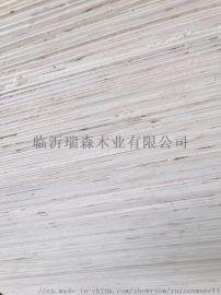单面贴奥古曼面杨木胶合板包装箱板漂白面胶合板