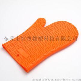 硅胶三字纹耐高温手套 硅胶厨房隔热手套 烘焙手套