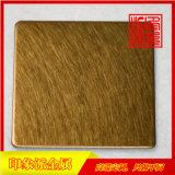 304亂紋黃銅金亮光不鏽鋼裝飾板