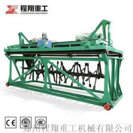 猪粪发酵槽式翻堆机,有机肥翻堆机设备多少钱一台