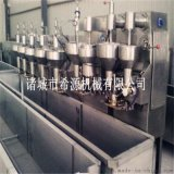 麥樂滋丸子蒸煮機視頻 小型丸子成型蒸煮生產線設備