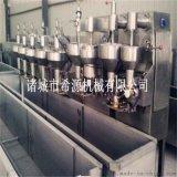 麦乐滋丸子蒸煮机视频 小型丸子成型蒸煮生产线设备