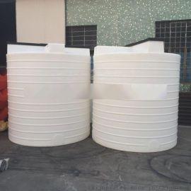 5吨水处理设备搅拌桶,5000L化工防腐PE储罐厂家