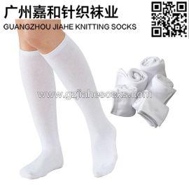 白色学生袜 校服袜子供应商 纯色学生袜
