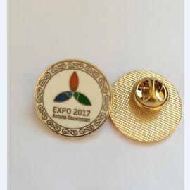 呼和浩特专业金属徽章订做**logo镀金胸章制作厂家