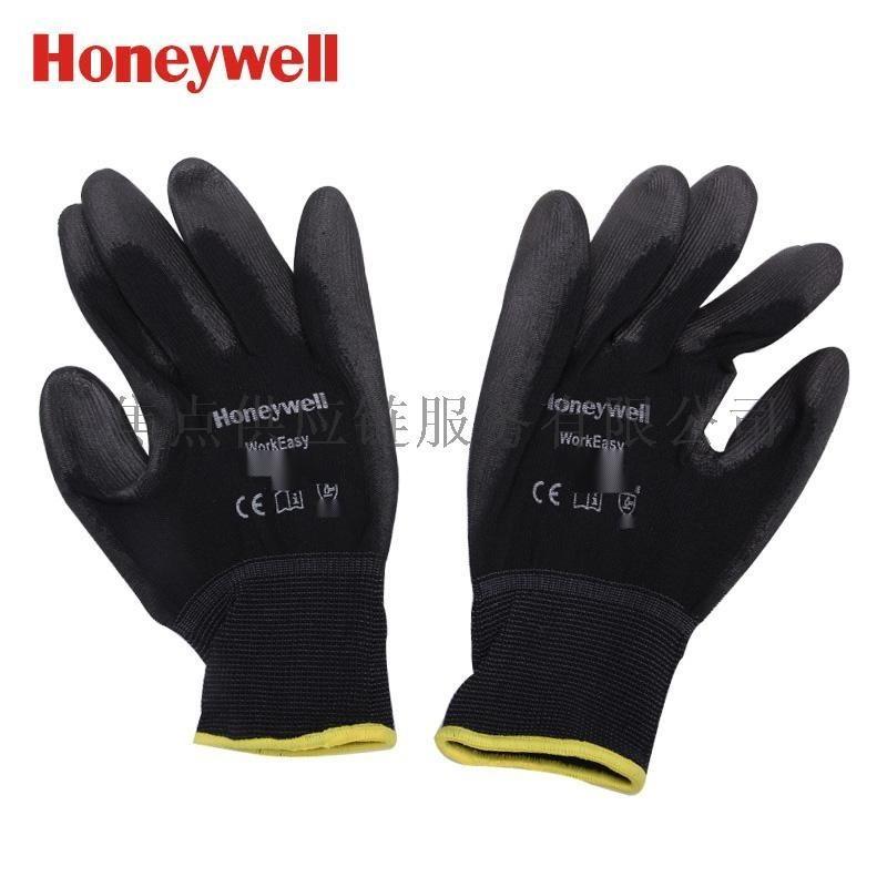 霍尼韦尔 经济型涤纶耐磨PU涂层工作手套 黑色 2100251 9寸