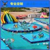 水上闯关冲关游乐设备大型支架水池充气水上玩具移动水上乐园设备