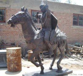 武士骑马雕塑铸铜骑马武士欧式人物雕塑