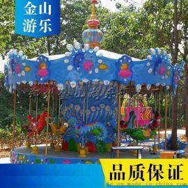 青海大型豪华旋转木马价格 12座转马游乐设备厂家