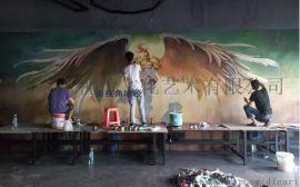 常州网咖墙绘网吧画画手绘墙画人物油画