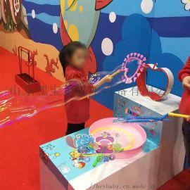 长龙泡泡机 泡泡秀体验馆 儿童游乐乐园设备定制加盟