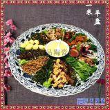 景德鎮陶瓷青花瓷1米大瓷盤 手繪龍鳳菜盤海鮮盤 酒店用品瓷盤