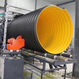 河北HDPE双壁波纹管 钢带增强螺旋波纹管