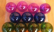 人工吹制空心玻璃球 喷色空心球