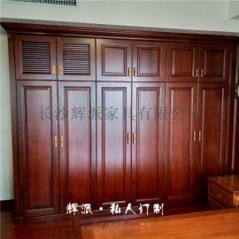 长沙实木定制家具实木橱柜、实木博古架定制服务很好