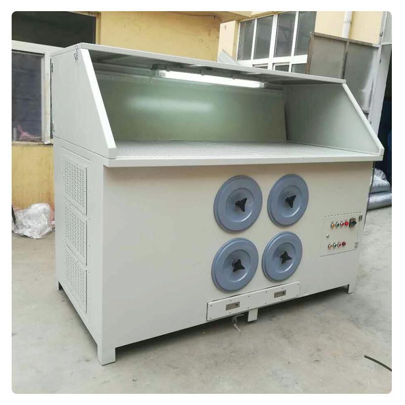 家具厂木屑集尘清灰除尘柜、干式打磨工作台