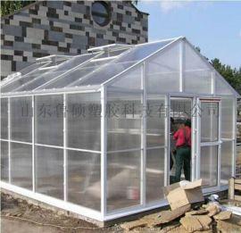 济南透明pc双层中空阳光板雨棚