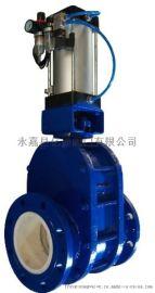 Z644T气动耐磨陶瓷出料阀