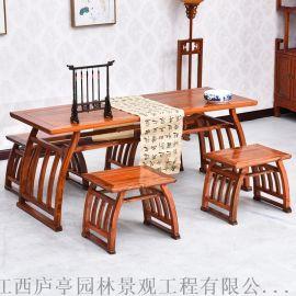 合肥学生书法桌 国学馆培训班桌椅 书画桌国学桌直销