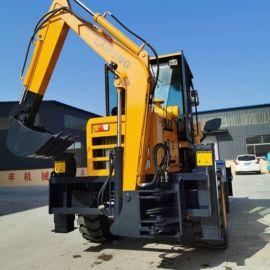广东铲挖一体装载机两头忙挖掘机大轮边气刹桥