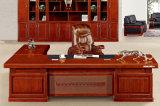3237款2.8米油漆总裁台 胡桃木皮绿色环保家具