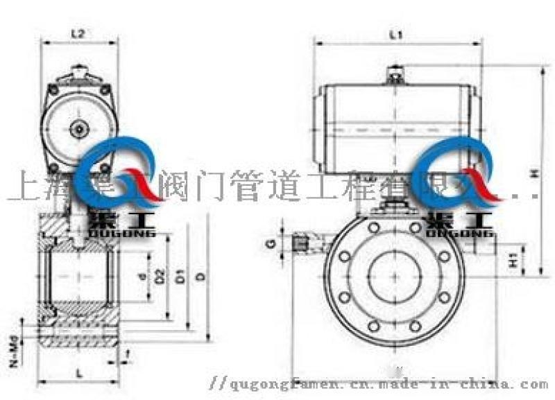 BQ671气动保温球阀、BQ641气动保温球阀