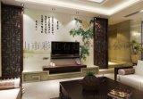 佛山彩雕背景牆廠家個性定製彩虹石品牌客廳電視背景牆瓷磚 賞牡丹 陶瓷藝術壁畫