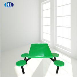 肯德基新款连体快餐桌椅食堂餐厅快餐店不锈钢餐桌椅组合