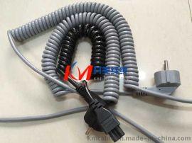 扬州开美  医疗器械设备带插头弹簧线螺旋电缆