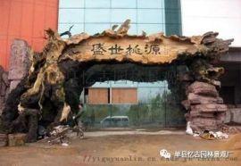 江苏小型生态园大门施工制作