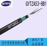 太平洋光缆 GYTZA53-8B1 8芯单模 室外双铠装阻燃光缆 适用于直埋