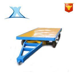 车间水泥搬运围栏平板低平板拖车 厂家无动力手推爬坡平移无轨车
