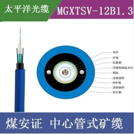 太平洋光缆MGXTSV-12B1 12芯单模光纤**束管式矿用阻燃通信光缆