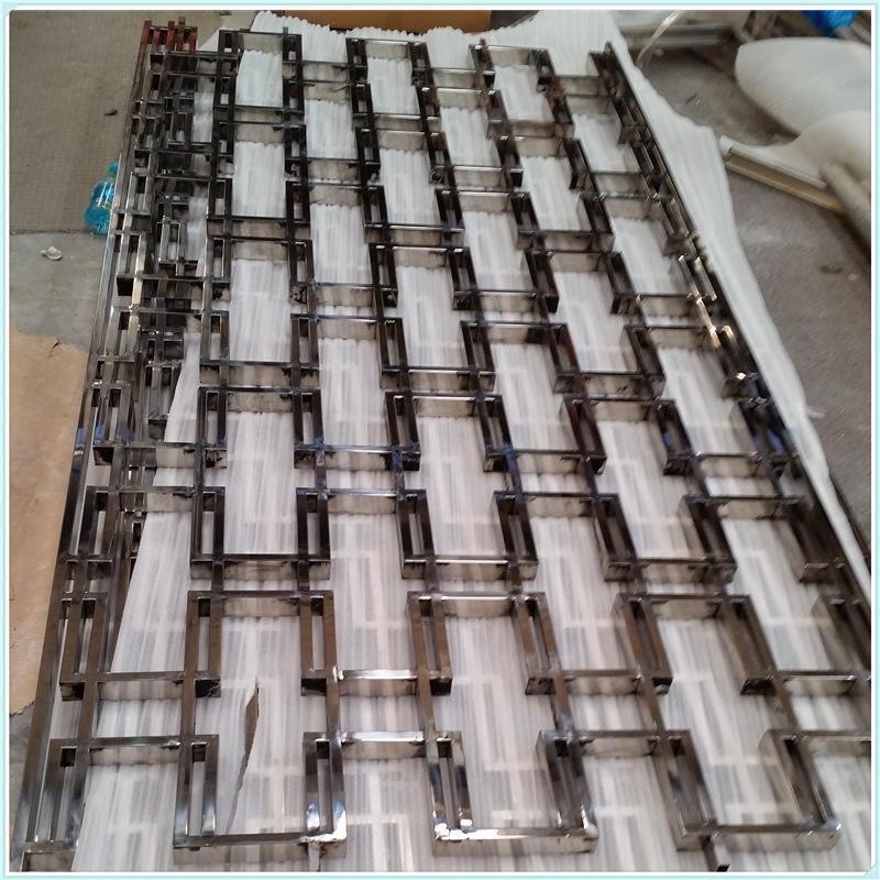 厂家直销镀色镂空爆款流行款式 加工定制不锈钢屏风隔断
