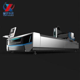 双驱6020光纤激光切割机 毛料激光切割机