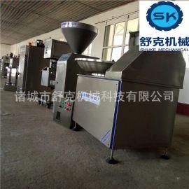 风味煎烤肠灌装机北京小火腿肠腊肠灌肠机 生产线加工机械设备