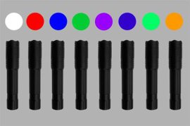 八波段匀光勘查光源