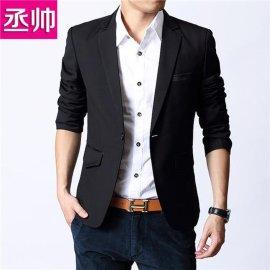 新款男装休闲西服 男版韩版修身潮流小西装男 春装男士西装外套潮