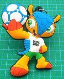 【定制】巴西世界杯吉祥物钥匙扣 世界杯小礼品