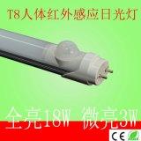 低价供应人体红外感应T8日光灯 停车场专用感应18W灯管
