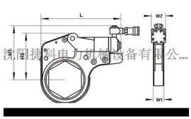 JIEKE 捷科 ZKB-15型 扭矩:15800(N.m)中空式液压扳手