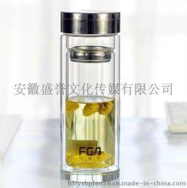 合肥玻璃杯|双层玻璃杯定制价格印logo