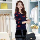 供应2015秋装长袖针织衫韩国原单女式毛衣空调罩衫厂家直销