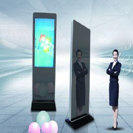 落地式镜面智能网络液晶广告机/镜面广告机/镜子广告机