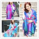 2015 春款 雲南民族風披肩 尼泊爾圍巾提花披肩 彩虹結款