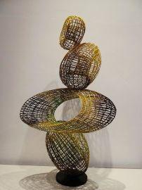 铁线工艺品摆件样板房酒店金属饰品 现代抽象艺术规格造型**可随意定制