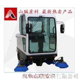 供应山联重科座驾式电动扫地机SLS-1900型,强力吸尘、喷雾降尘自动清扫车