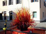 吹玻花苞造型雕塑玻璃管拉花雕塑